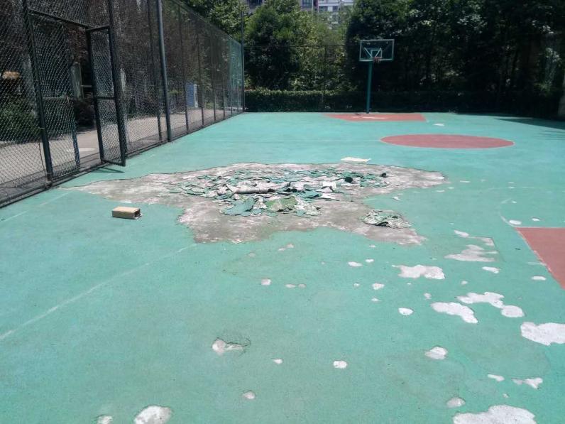 叠彩城篮球场地坪改造工程